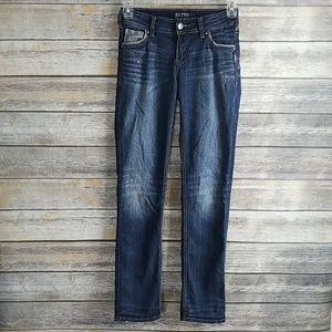 Silver Jeans Suki Mid Straight Fluid Denim Stretch